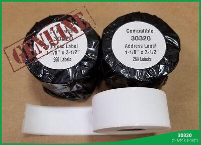 5 Roll Of 30320 Lg Address Labels Dymo Labelwriter 400 450 Twin Turbo