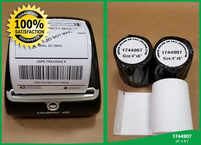 4 Rolls 220 Labelwriter Thermal Shipping Labels 4x6 Compatible 1744907 Dymo 4xl
