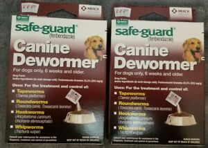 2 BOXS Safe Guard dewormer fenbendazole Dogs 40 lbs 4gm 3 Pk dose Wormer