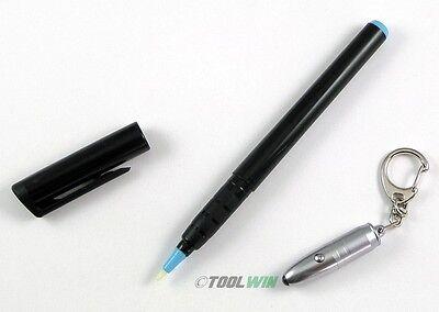 Invisible Ink Pen with UV Flashlight LED Black Light Reactive Secret Marker Set