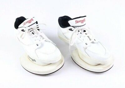 Strength Mens Jump Training Shoes Size 13.5 VTG Plyometric White Original 1980s ()