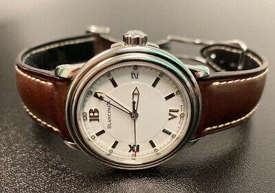 Blancpain Leman Ultra Slim Mens 38mm Watch Leather Strap 2100-1127-53B with Box
