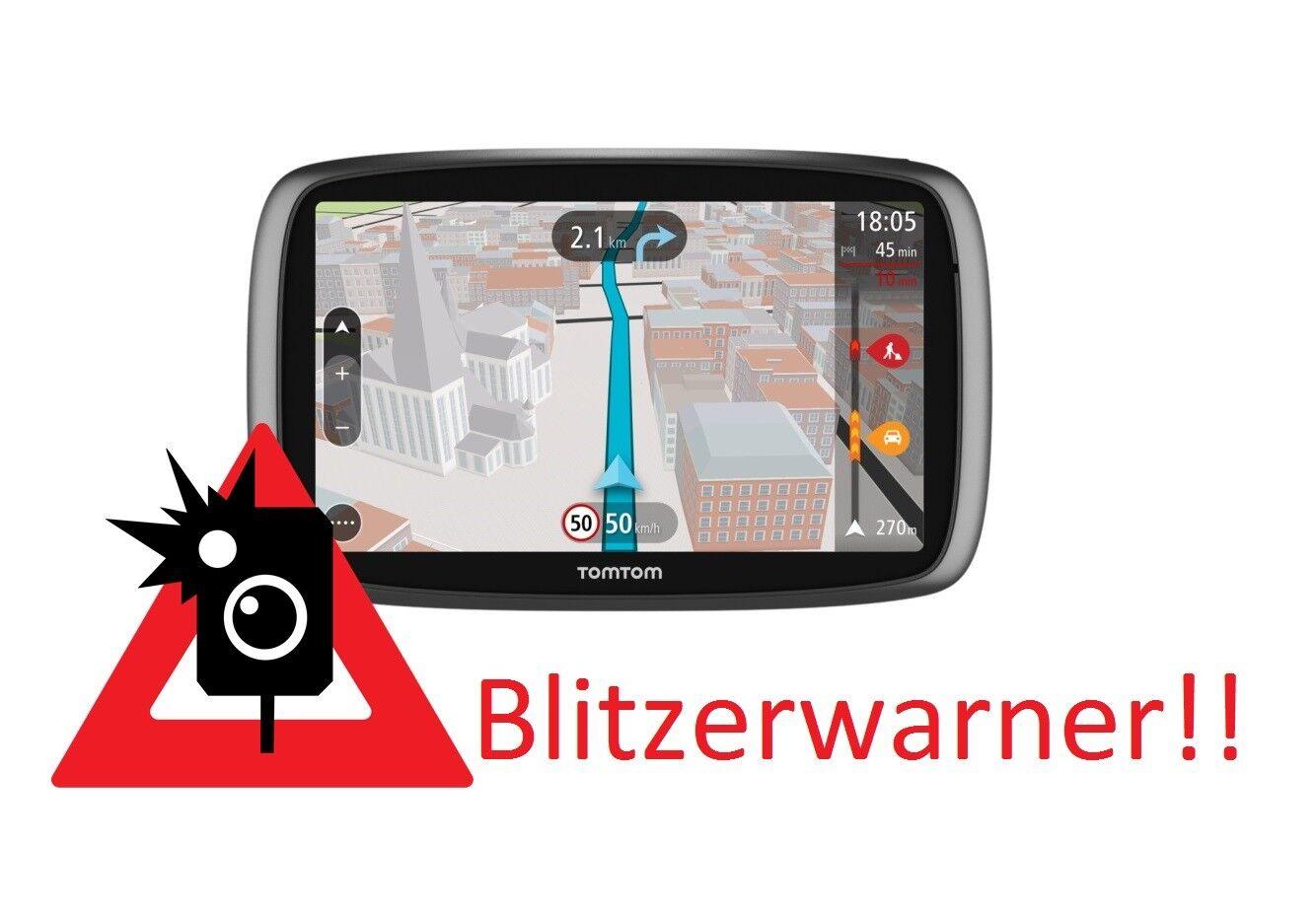 TomTom Start Navigatisgerät Blitzerwarner Radarwarner immer Aktuell !!!NEU!!!