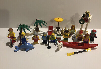 LEGO 60153 City People Pack Fun at the Beach 11 Minifigures Dolphin Incomplete