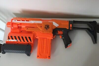 NERF N-Strike Elite Demolisher 2 in 1 Motorized Dart Blaster with Ammo Clip
