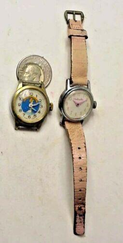 Cinderella Walt Disney Prod. Bradley & Cinderella US Time Wristwatch X 2