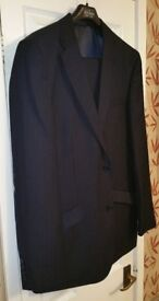 GENTS / YOUTH SUIT NAVY PINSTRIPE 38 Chest Jacket, Trousers 32 Waist 29 Leg