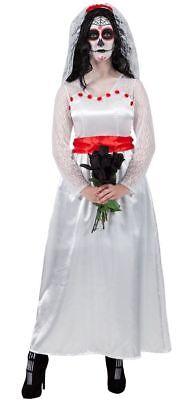*CLEARANCE* Halloween Mexican Bride of the Dead Women's Fancy Dress Costume
