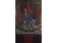 FRANCIS BACON - 'THE SCREAMING PONTIFF' - ORIGINAL EXHIBITION POSTER - c1999 (print. picture)
