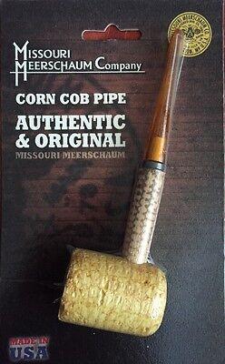 """Missouri Meerschaum Corn Cob Pipe UnSmoked STRAIGHT Stem NEW IN PACK 6"""" NEW"""