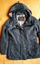 Navy Ladies Barbour coat uk12