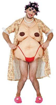 FM - Karneval Herren Kostüm Hausfrau Kittel + Body als Nackte verkleiden