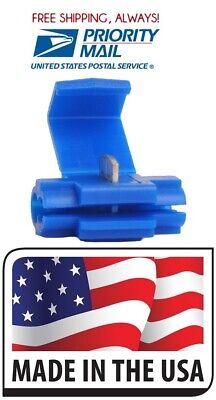 500 Scotch Locks Quick Splice Electrical Terminal Blue 18-14 Made In Usa