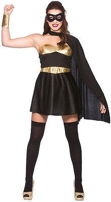 Hot Superhero Damenkostüm schwarz NEU - Damen Karneval - Superheroe Kostüme