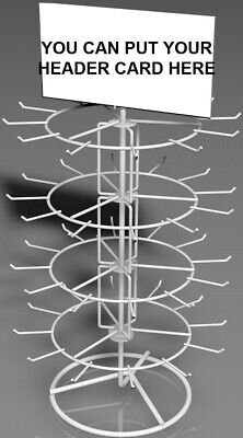 4-tier Wite Wire Spinner Rack