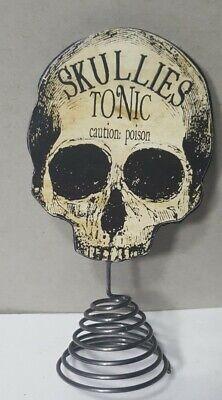 "Bethany Lowe Small Skullies Tonic Tree Topper Halloween 4.5"""