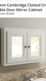 800mm Cambridge Clotted Cream double door mirror cabinet