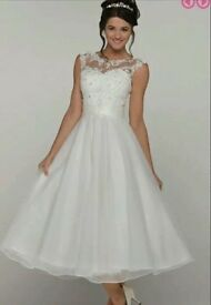 White wedding dress one size 14 one size 16