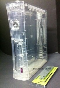 Transparent-CLEAR-Case-for-XBOX-360-System-W-Tools-HDMI