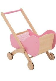 TIDLO wooden toy pram buggy BNIB