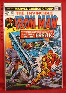 The-Invincible-Iron-Man-67-1974-Marvel-Return-of-the-Freak-Tony-Stark-B-B-VF