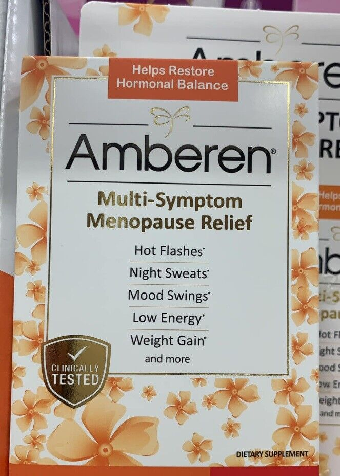 3 Box - Amberen Menopause Relief Capsules 60 Capsules - NEW IN BOX