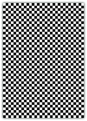 Chequered Flag Laminated Sticker Sheet Checkered Check large 310x218mm car race  ()