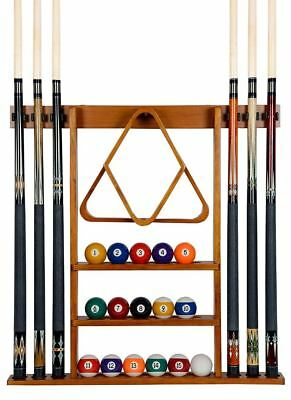 Cue Rack Wall Mount Iszy Billiards Pool Table Accessories Holder Sticks Storage