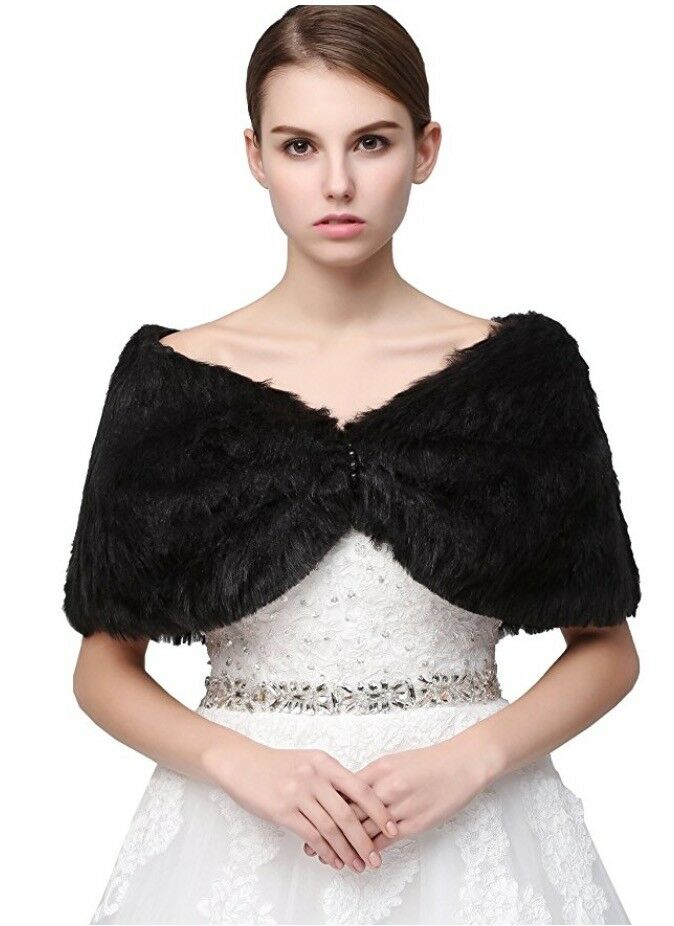 Clearbridal Women's Ladies Faux Fur Warm Scarf Wrap