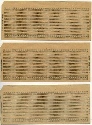 50 x OLD USSR Computer Mainframe Punch Cards. Like for IBM UNIVAC computers! for sale  Shipping to Canada