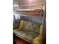 Metal double and single bunkbed/ foldout sofa