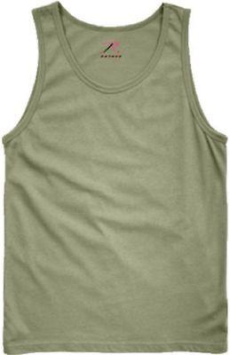 OD GREEN OLIVE DRAB ROTHCO 6701 MENS TANK TOPS ARMY CAMO GREEN T-SHIRT S TO 3X - Olive Drab Mens Tank Top