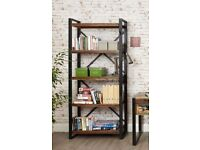 Large Industrial Bookcase Rustic Reclaimed Wood