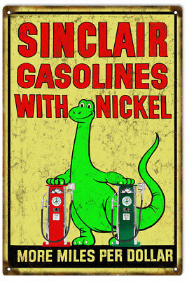 Nickel-motor (Reproduction Sinclair Gasoline With Nickel Motor Oil Sign)