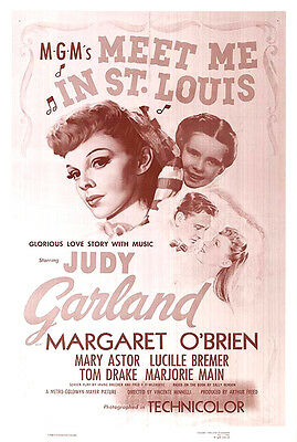 MEET ME IN ST. LOUIS  (1944) ORIGINAL 1-SH RE-RELEASE 1990 MOVIE POSTER - ROLLED