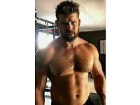 Shirtless Male Beefcake Hairy Chest Beard Beefy Hunk Man Muscle PHOTO 4X6 D309