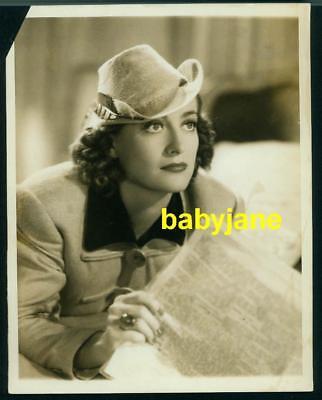 Joan Crawford Vintage 7X9 Photo 1937 Adrian Fashion