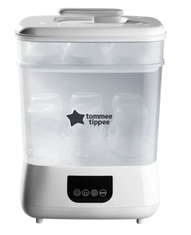 NEW!! Tommee Tippee Steri Dry Natural Advanced Electric Cleaner Dryer (White)