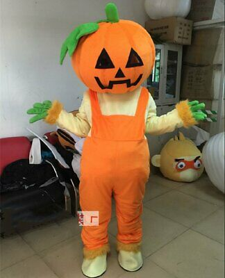 Pumpkin Mascot Cosplay Party Game Dress Outfit Advertise Halloween Adult Costum@ - Adult Pumpkin Outfit