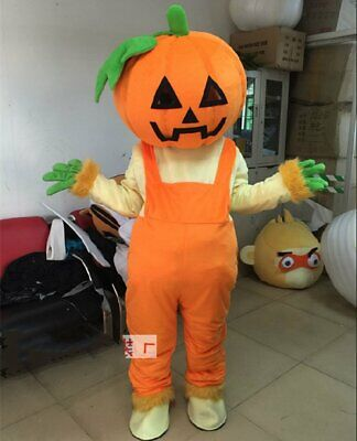 Advertising Pumpkin Mascot Costume Cosplay Party Game Dress Outfit Halloween New](Pumpkin Mascot Costume)