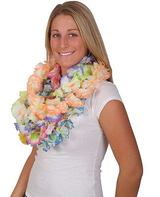 LOT OF 12 HAWAIIAN CARNATION FLOWER LEIS LUAU BEACH PARTY CARNIVALS DECORATION - Carnation Leis