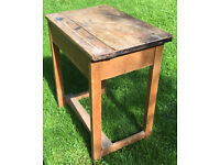Child's school desk, Wooden Good Condition