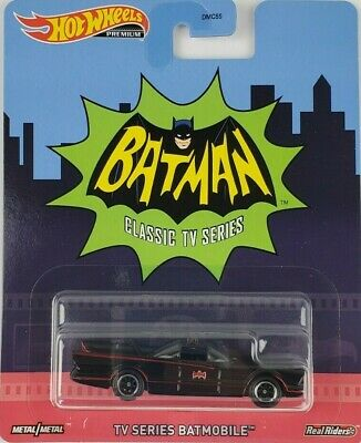 Hot Wheels TV Series Batman Batmobile Car Retro Entertainment DMC55 Mattel
