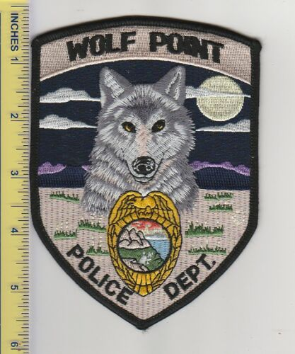 US Police Patch Wolf Point Montana Police Department