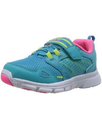 Stride Rite Girls' Made 2 Play Taylor Sneaker, Turquoise, 5 W US Little Kid ()