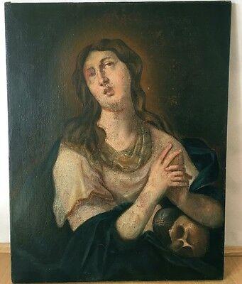 Maria Magdalena mit Totenschädel und Salbgefäß um 1650 Ölgemälde