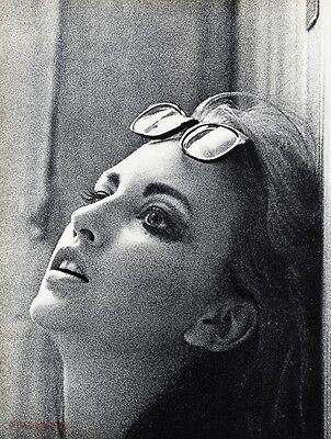 1967 Vintage 16x20 FASHION FEMALE Woman Sunglasses Photo Gravure Art SAM HASKINS