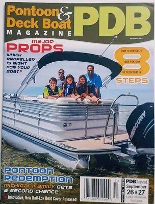 Pontoon & Deck Boat Magazine Sept 2015 Propellers Winterize FREE SHIPPING CB
