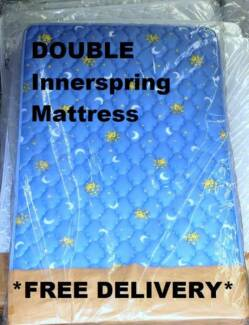 **FREE DELIVERY** DOUBLE Mattress. Bonnell Innerspring NEW! $159 New Farm Brisbane North East Preview