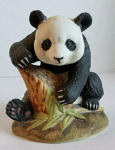 Kowa Porcelain Panda Bear on Stump Collectible by China Pete